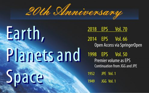 The Year 2018 Marks 20th Anniversary Of EPS Having A Long History 70 Years Owing To Its Predecessor Journals JGG And JPE Is One Oldest